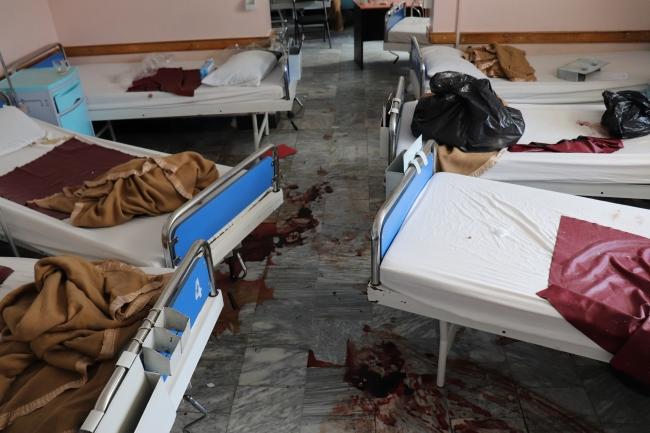 襲撃を受けた産科病棟 妊婦や新生児が入院していた (C) Frederic Bonnot/MSF