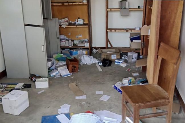 略奪を受けたボガ総合病院=6月8日 コンゴ民主共和国保健省提供