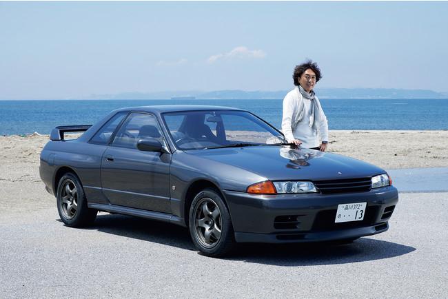 「1990年型日産スカイラインGT-R(R32型)」はモータージャーナリストの島下泰久さんの所有。つい最近手に入れたばかり。