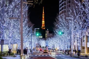 けやき坂イルミネーション(昨年の様子)