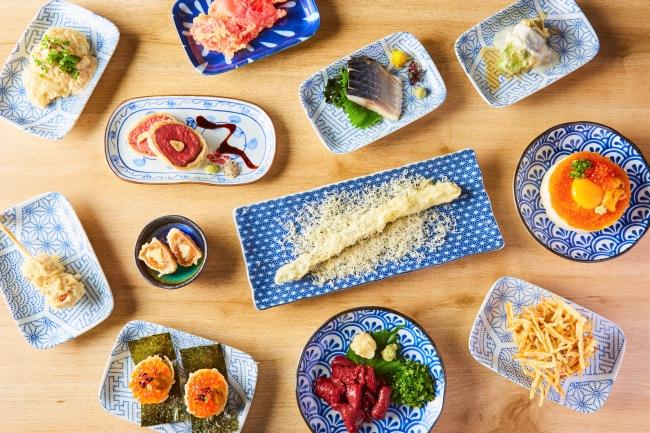 ユニークな創作天ぷらと逸品料理