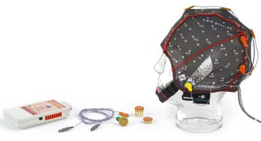 図 解析に用いた脳波測定機器 (g.SAHARA dry active electrode system, g.tec社製)