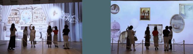 写真左:AR体験/写真右:マジョリカ マジョルカの世界観に浸る