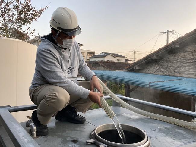 別府市内で源泉100%温泉汲み上げ