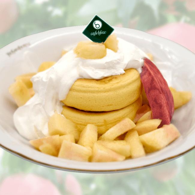 桃のプレミアムふわふわパンケーキ