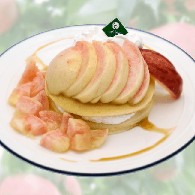 桃のベーシックパンケーキ