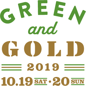 GREEN and GOLD 2019ロゴ