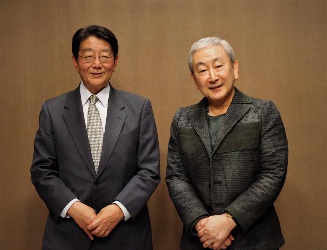 (左) 岩井克己 朝日日新聞特別嘱託(皇室担当)(右) 橋本大二郎 前高知県知事