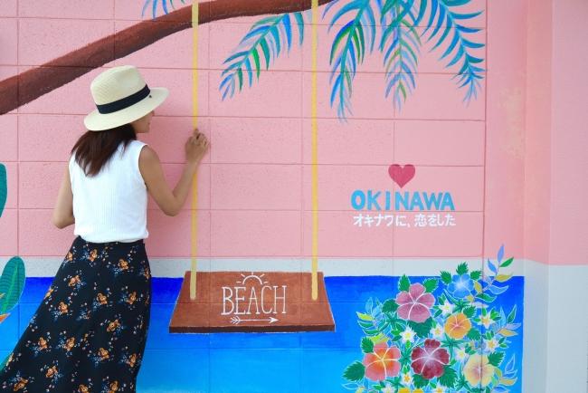 美々ビーチのウォールアート