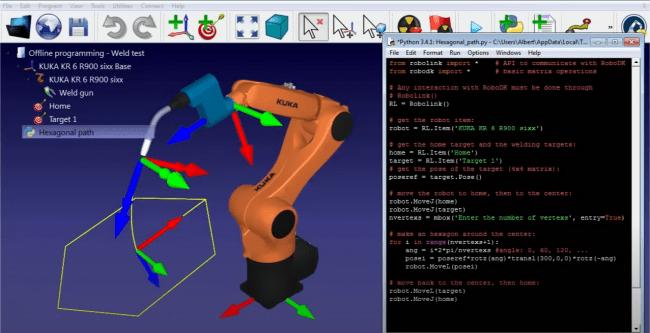 RoboDKシミュレーション画面