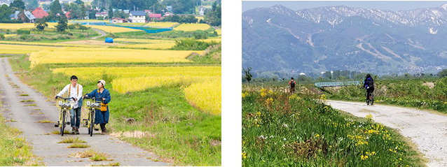 """""""日本のふるさと""""を体感できる田舎の原風景広がるコース"""