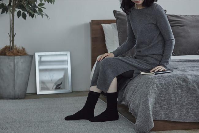 シルク&ウールパイル靴下 2,420円(税込)