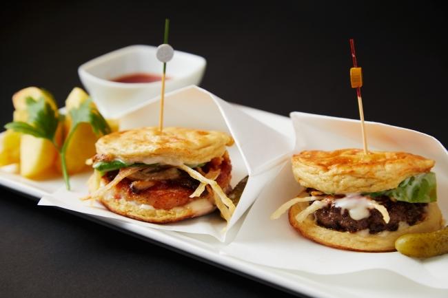 Wagyu and Seefood Tofu Mini Sliders