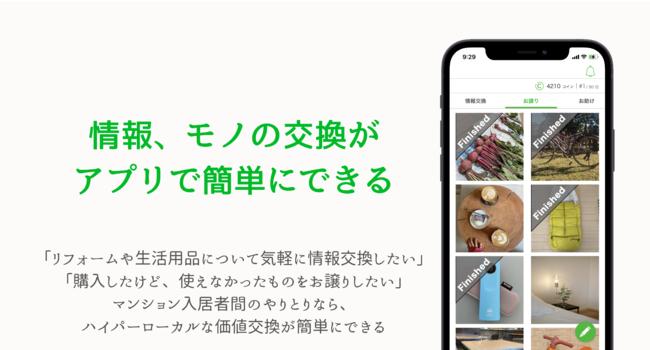 Gokinjoアプリでは、これまで多くの情報やモノが交換されてきました。アプリを開くと、新しい情報が見つかります。