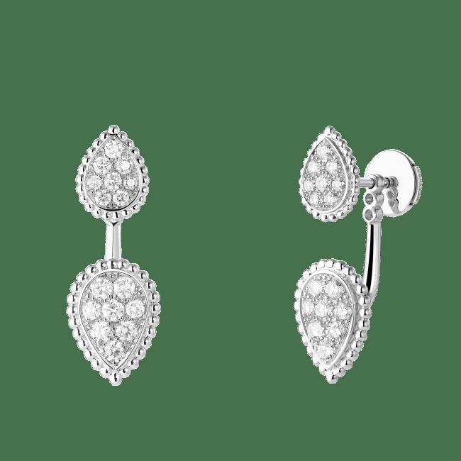 「セルパンボエム 2モチーフ シングル スタッズイヤリング」¥600,000(税込)(WG、ダイヤモンド)片耳のみの販売