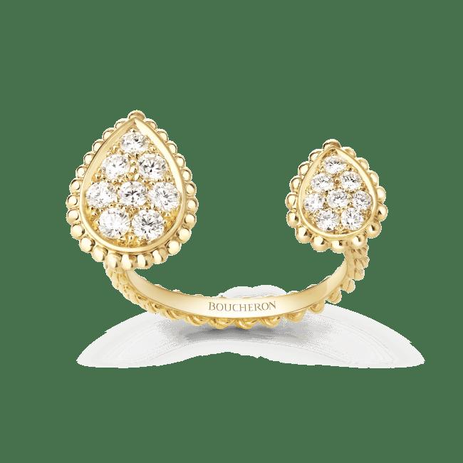 「セルパンボエム 2モチーフ リング」 YG、ダイヤモンド ¥660,000(税込/予価)7月18日発売予定