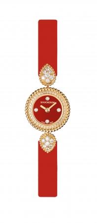 「セルパンボエム ウォッチ イエローゴールド」 YG、ダイヤモンド、レッドカーフストラップ ¥1,700,000(税込/予価)7月8日発売予定