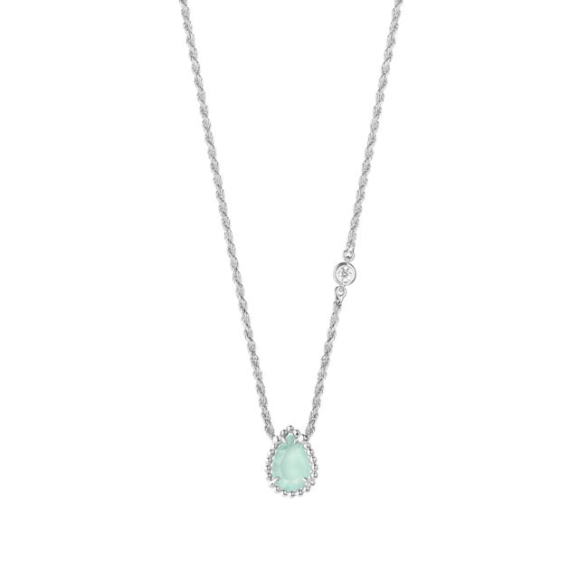 「SERPENT BOHÈME AQUAPRASE セルパンボエム ペンダント エクストラスモール」 WG アクアプレーズ ダイヤモンド1石 チェーンの長さ:38 - 42 - 44 cm ¥224,400(税込)