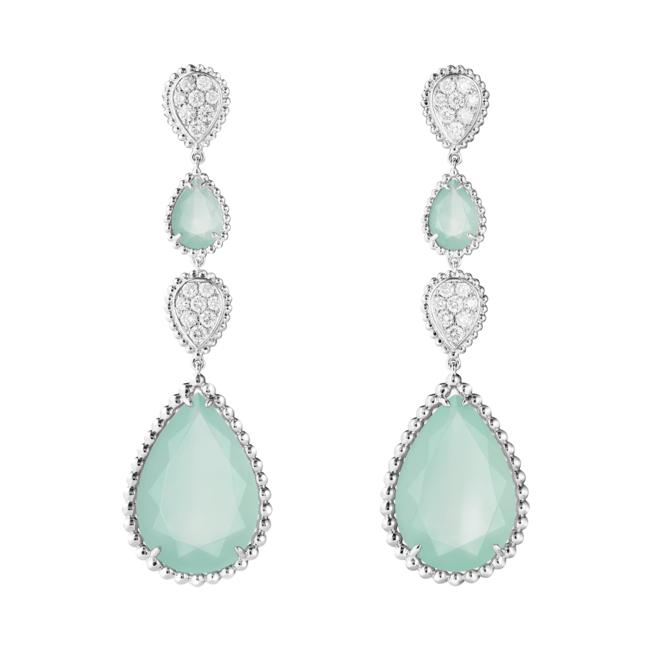 「SERPENT BOHÈME AQUAPRASE セルパンボエム ペンダントイヤリング」 WG アクアプレーズ ダイヤモンド ¥2,059,200(税込)
