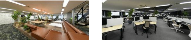 写真:(左から)東京品川オフィス 5F、4F