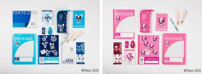 (左)東京2020オリンピック競技大会 公式ライセンス商品、(右)東京2020パラリンピック競技大会 公式ライセンス商品