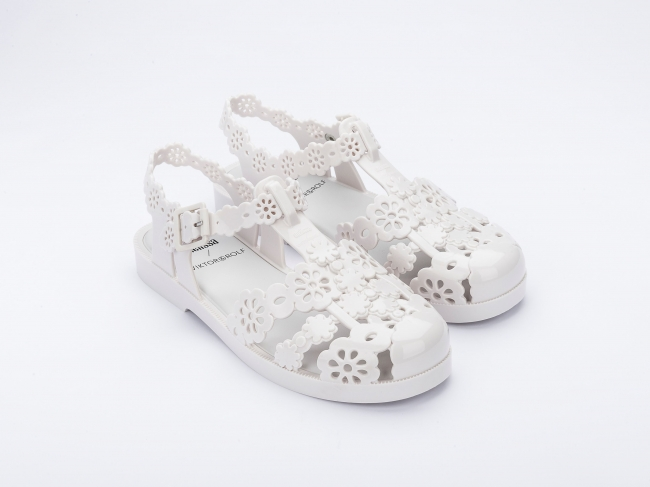 Girl/'s Youth T-Strap Retro Rain Jelly Flat Sandals Shoes NEW Jelly-28//29K