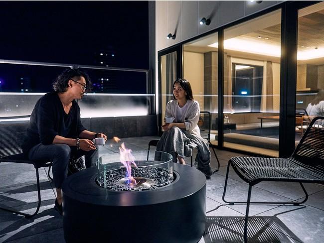 札幌の景色を眺めながらテラスで過ごす。ちょっぴり贅沢な時間です。