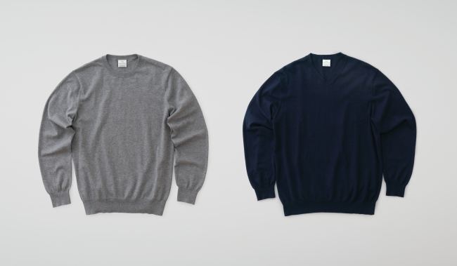 Crew neck GRAY V-neck NAVY