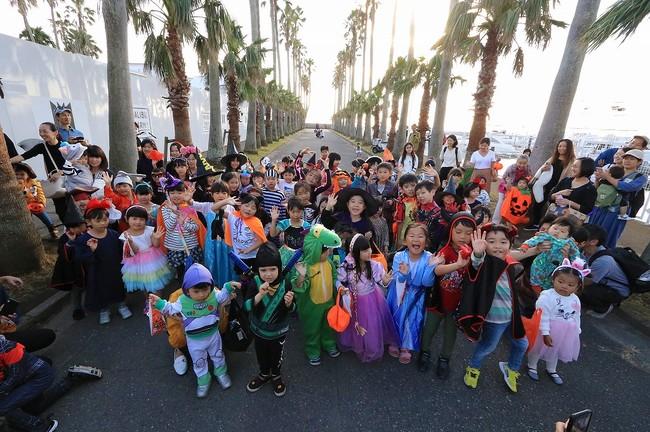 昨年のハロウィンパレードの様子。