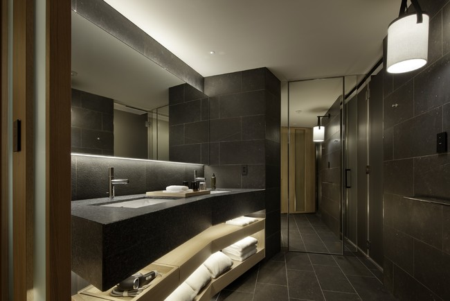 Studio ゆったりとした広さのあるバスルーム
