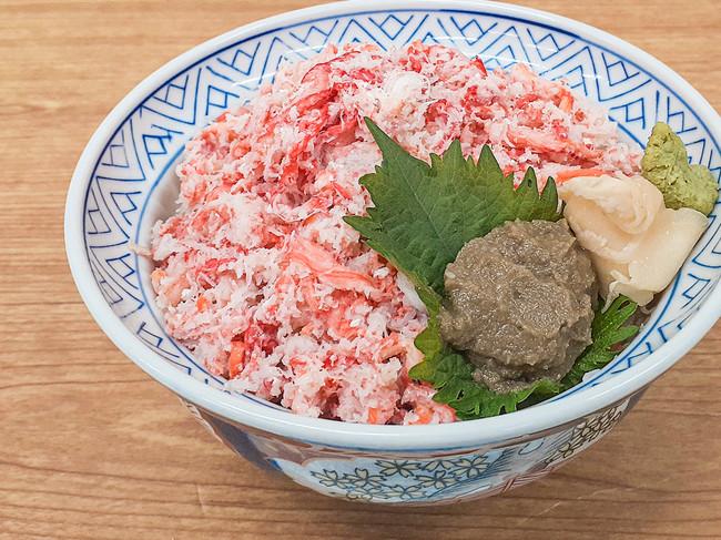蟹味噌と食べる紅ずわい蟹どーんっ!