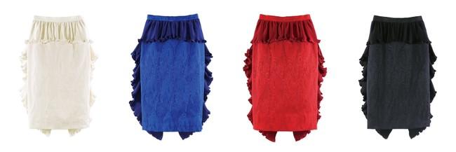Pleats Fish Tail Skirt