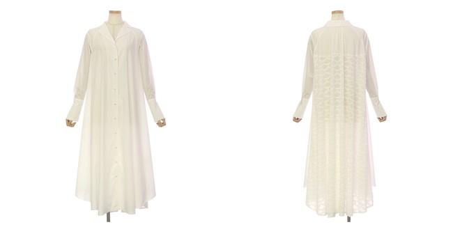 Open Collar Shirt Dress