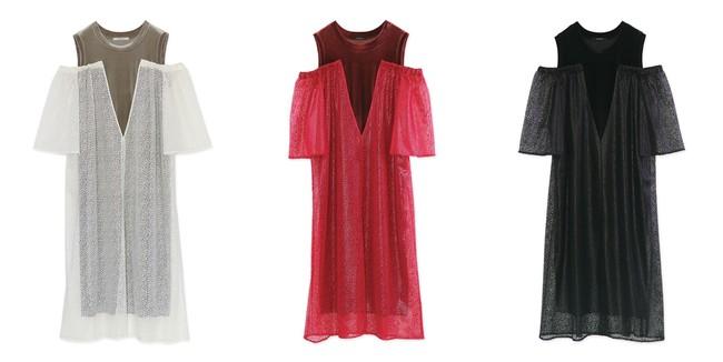 Open Shoulder Velour Dress