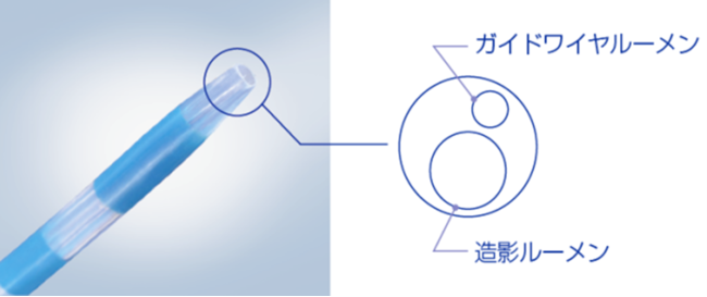 2ルーメン構造 先端イメージ図