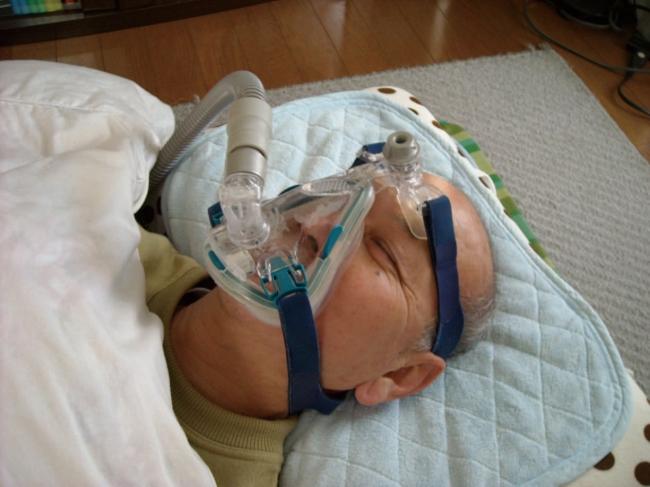 CPAP使用中の写真