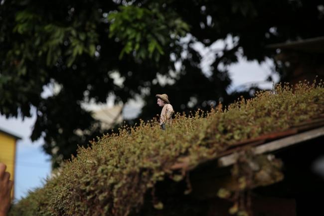 新竹北埔老街にあるイサカ・コルダIsaac CORDALの《街道物語》(画像提供:ロマンチック台三線芸術祭)