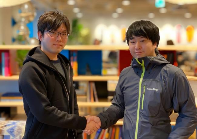 写真:左 (株)QuelCode創業者 浜田広大 右 (株)LABOT 創業者 鶴田浩之