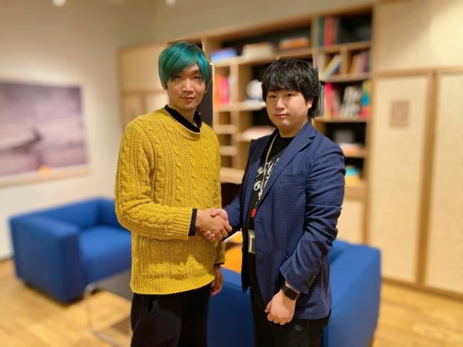 写真:左 (株)千葉工房 創業者 千葉大志 右 (株)LABOT 創業者 鶴田浩之