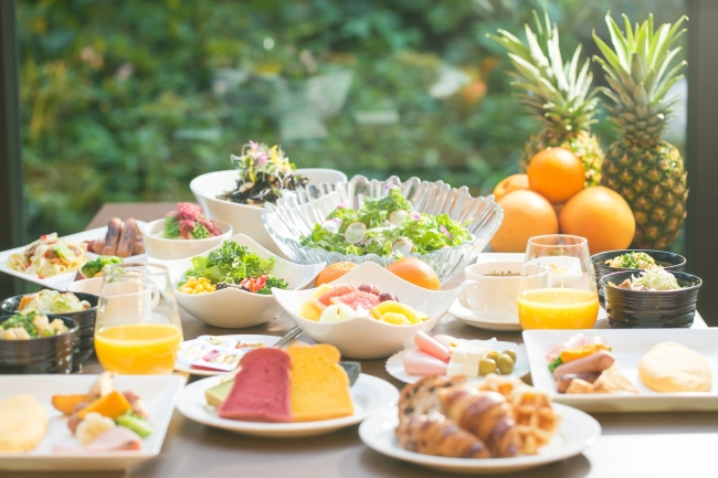 「ヘルシー・ビューティー・フレッシュ」がコンセプトの フルブッフェスタイル朝食