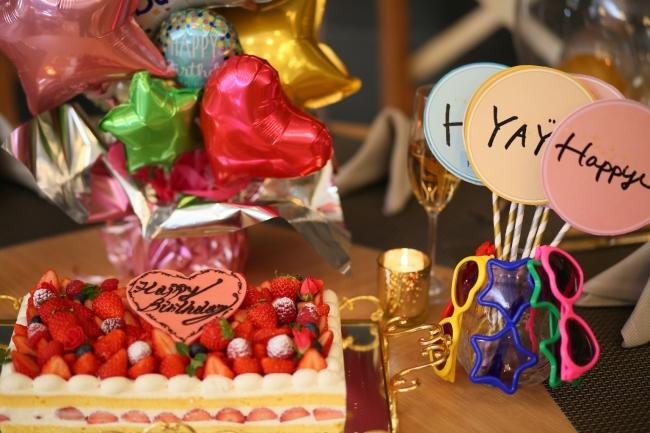 ▲女子会にも最適な空間!ご希望の方にはケーキやバルーンのご用意も可(事前問い合わせ要)