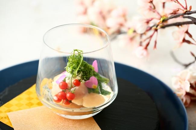 ▲冷前菜の特製オードブルは彩り豊かな一品