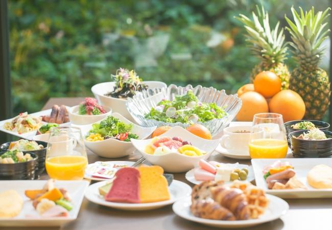 ▲「ヘルシー・ビューティー・フレッシュ」がコンセプトの フルブッフェスタイル朝食