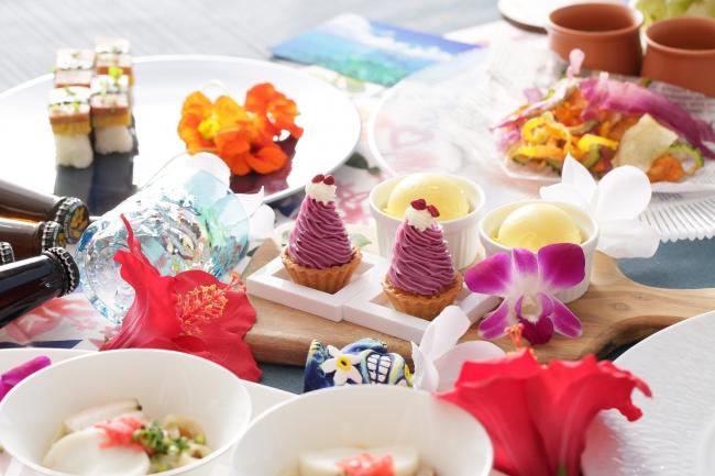 ▲ホテル特製の沖縄料理