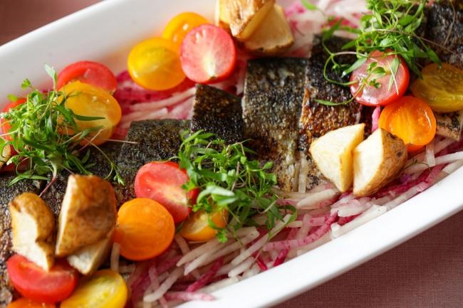 ▲鯖の炙りの冷製サラダ