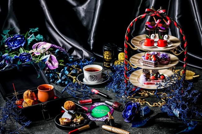 ▲同期間、「ニューヨークラウンジ」にて販売中の ダークプリンセスアフタヌーンティー~囚われの白雪姫~