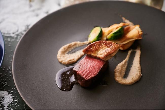 【肉料理】特選牛フィレ肉とフォアグラのロッシーニ仕立て