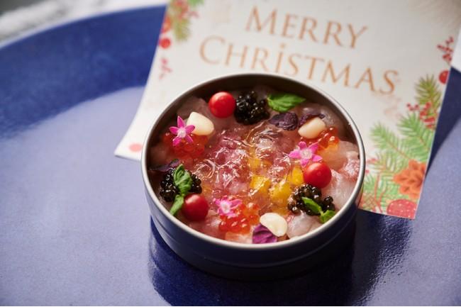 【前菜】寒鰤とツブ貝のタルタル