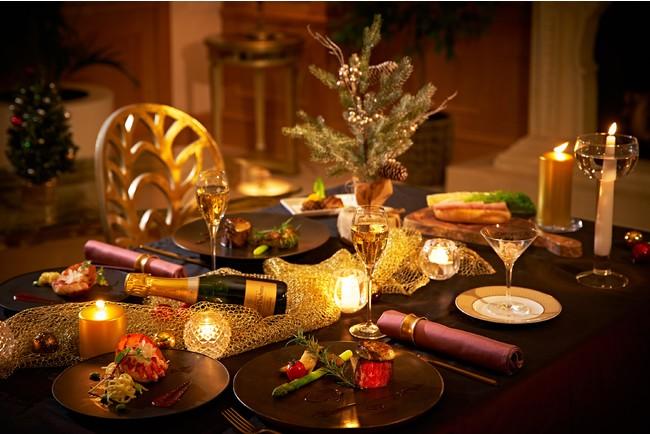 『おうちdeクリスマスパーティーセット』ご自宅でのテーブルコーディネートイメージ