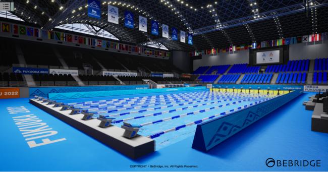 ※画像は競技会場のイメージをVRで再現したものです。
